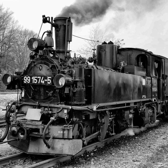 """Narrow Gauge Steam Train"" stock image"