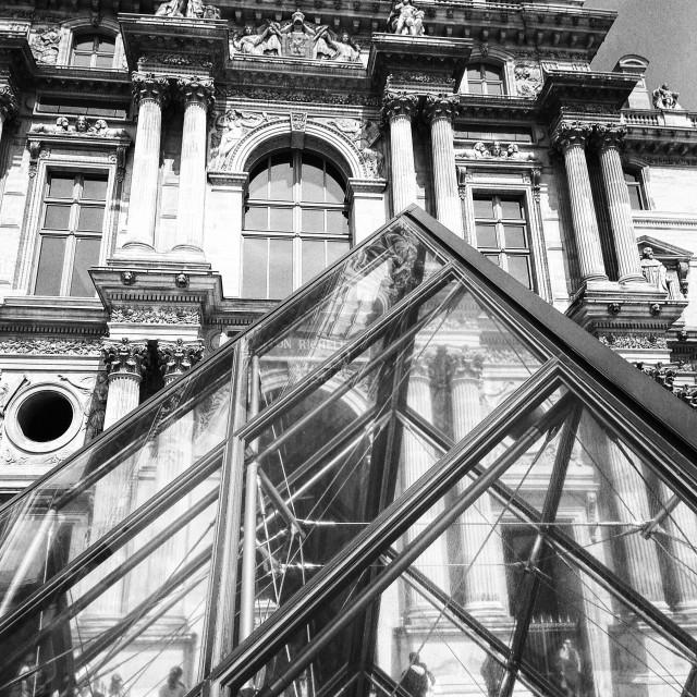 """""""Louvre Paris"""" stock image"""