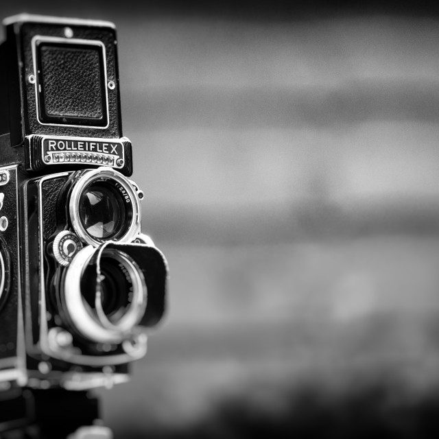 """Rolleiflex Twin Lens Reflex Camera"" stock image"