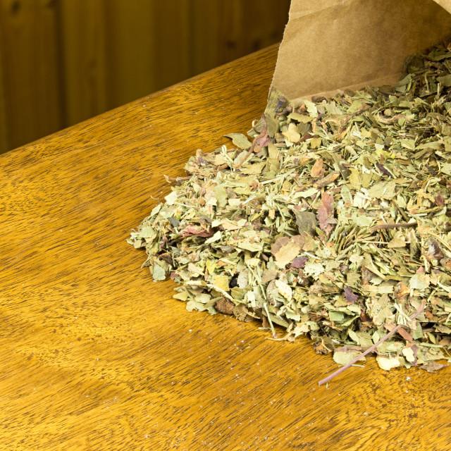 """""""prepared for herbal tea"""" stock image"""