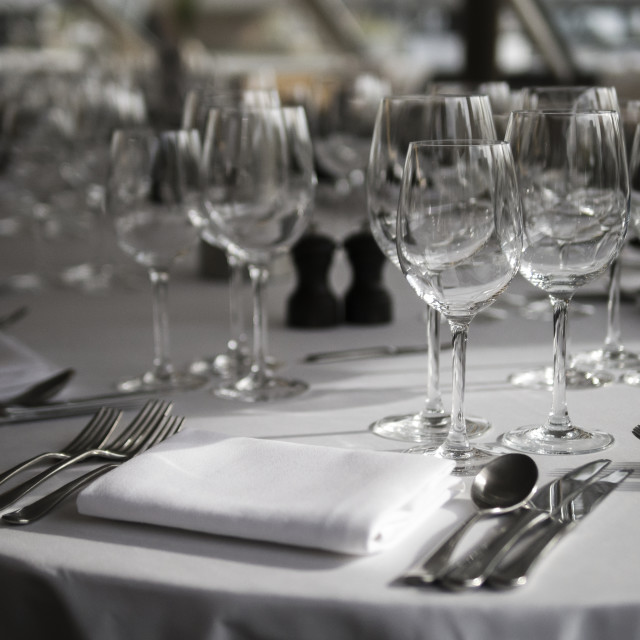 """""""Place Setting at Table"""" stock image"""
