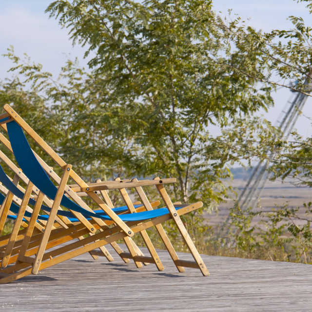 """Beach chairs"" stock image"