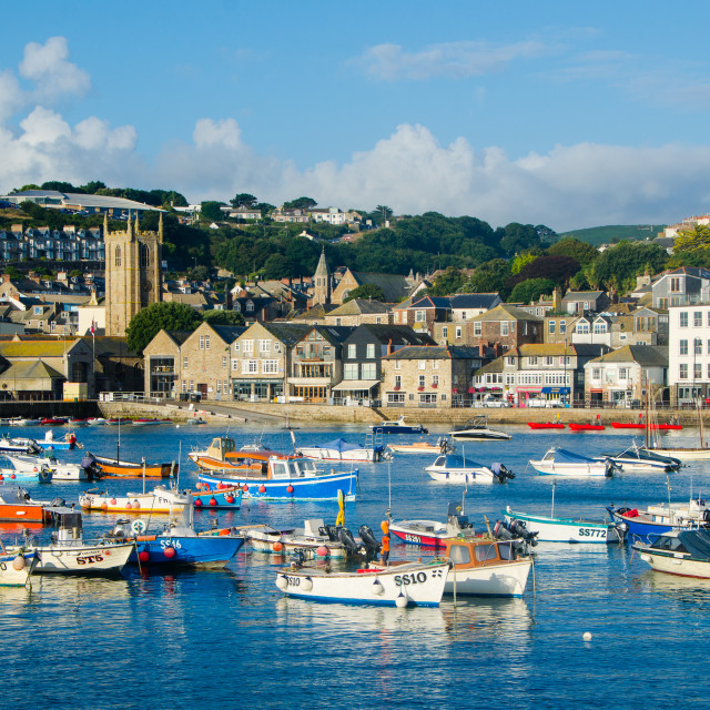 """St Ives Harbour, Cornwall"" stock image"