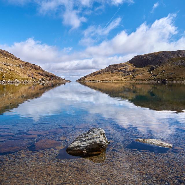 """Upper lake of Glaslyn"" stock image"