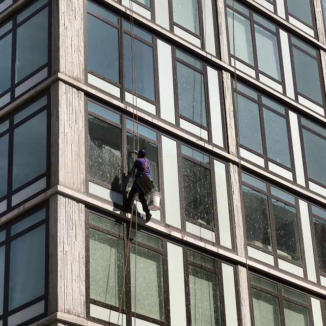 """Window Washer"" stock image"
