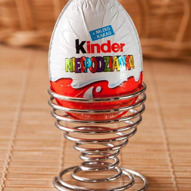 """Kinder surprise chocolate egg"" stock image"