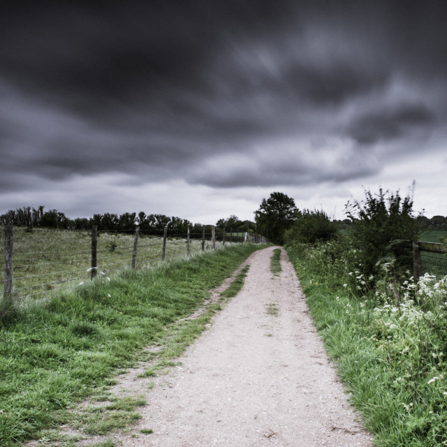 """Countryside path"" stock image"