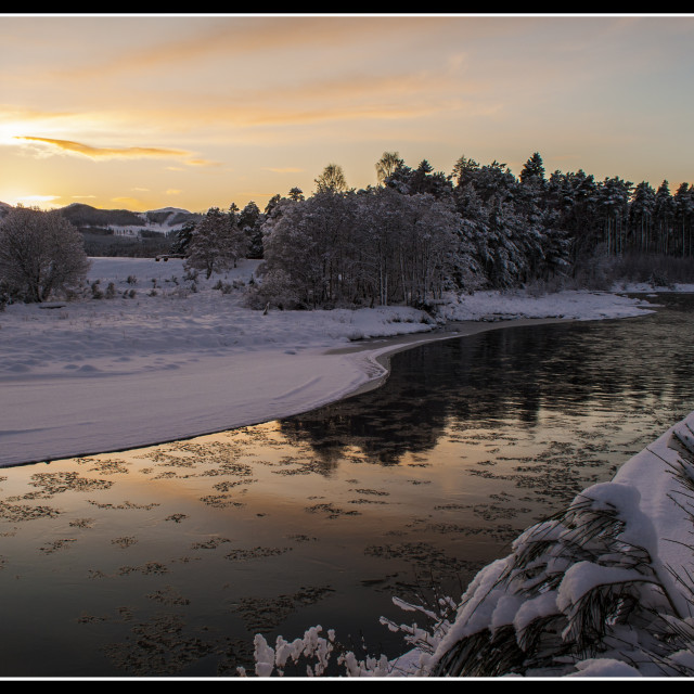"""The River Dee, Scotland"" stock image"