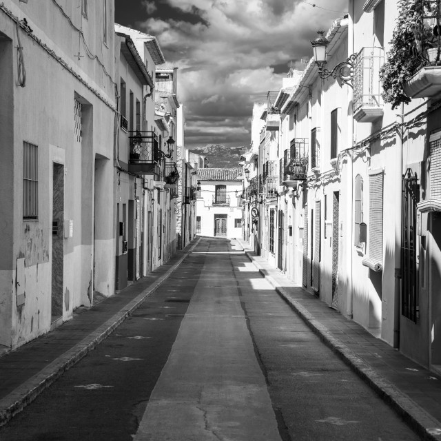 """Calle Tabarca"" stock image"