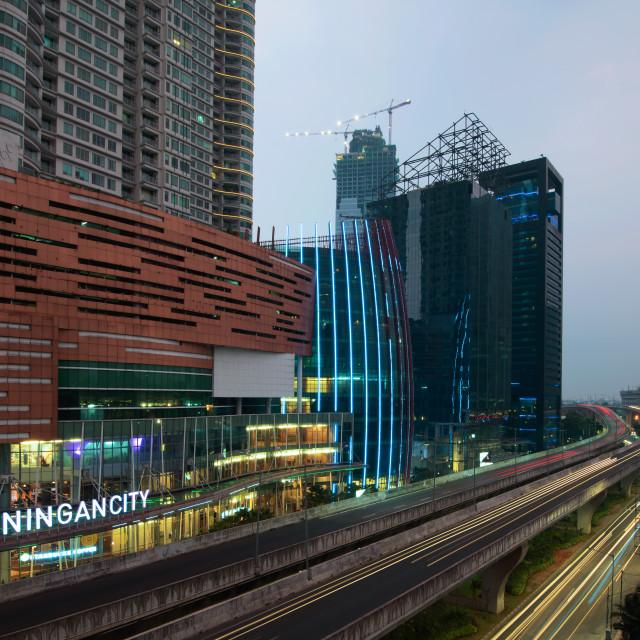 """Kuningan City: Fast Lane"" stock image"