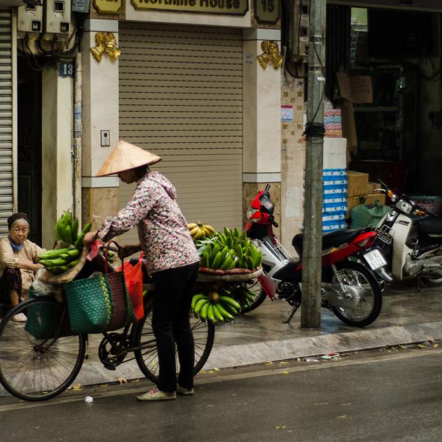 """Street Vendor Hanoi"" stock image"