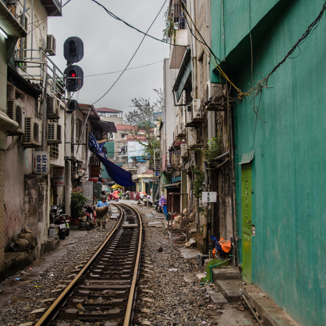 """Train Lines in Hanoi"" stock image"