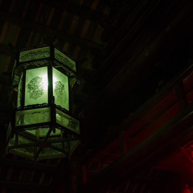"""""""Pale Green Lantern"""" stock image"""
