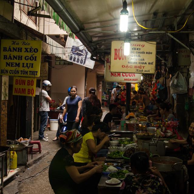 """""""Street Food Alleyway"""" stock image"""