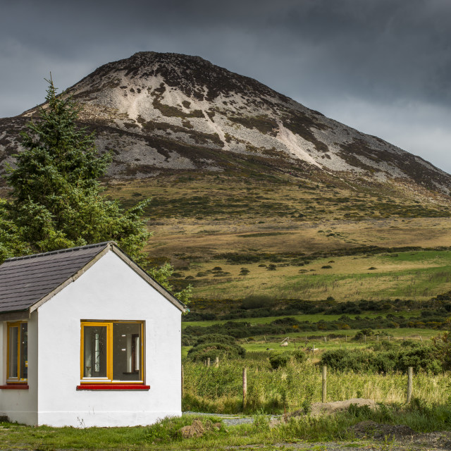"""Sugarloaf Mountain in Co. Wicklow."" stock image"