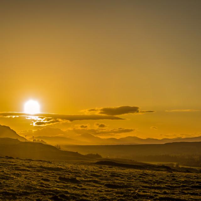 """""""Sunset over Ben Lomond"""" stock image"""