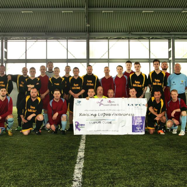 """""""World Lupus Day Charity match"""" stock image"""