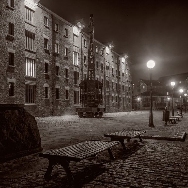 """""""Warehouses in Gloucester Docks"""" stock image"""