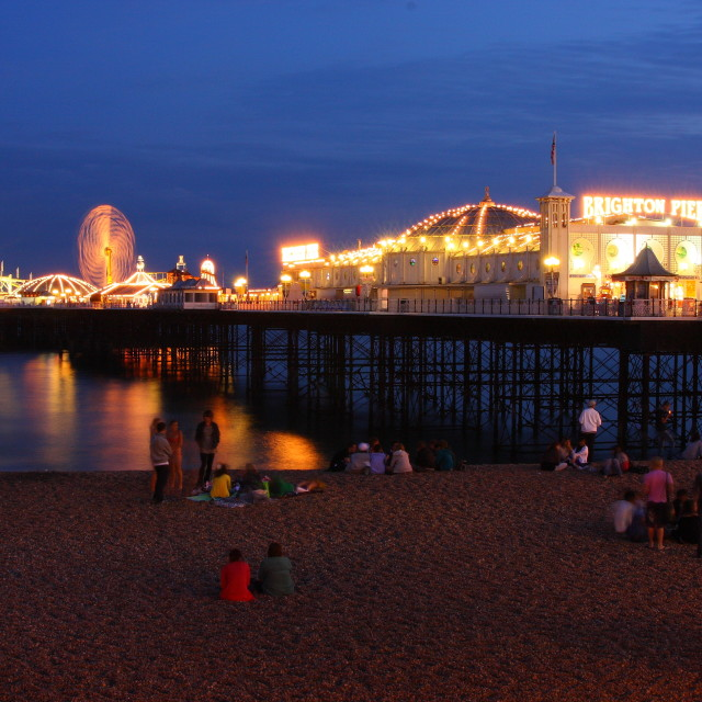 """""""Night at the Pier"""" stock image"""
