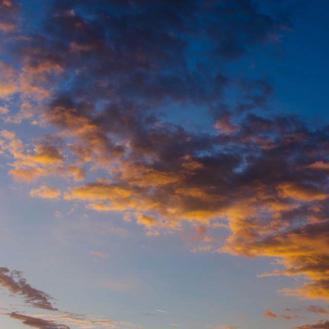 """Beautiful Evening Clouds"" stock image"