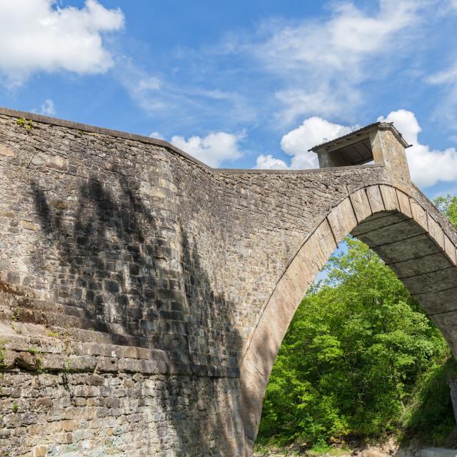 """the old stone bridge"" stock image"