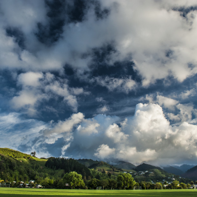 """""""Land of Clouds - Nelson, New Zealand"""" stock image"""