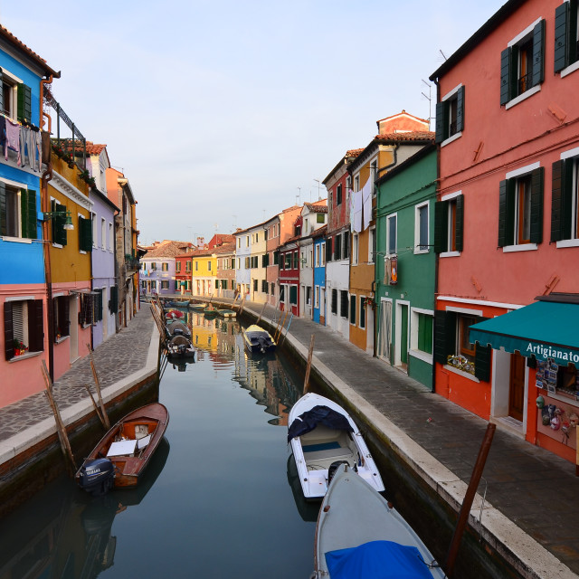 """Colours of Paradise - Burano, Venice, Italy"" stock image"