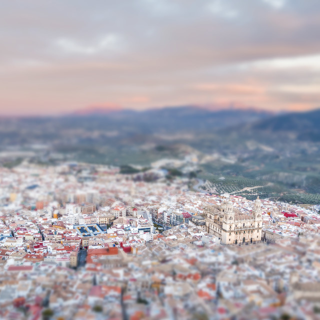 """Cathedral in Jaen"" stock image"