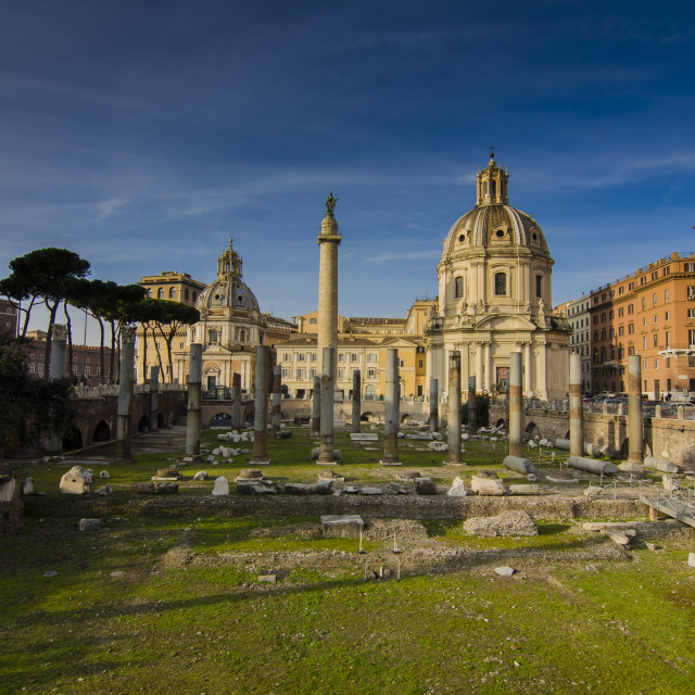 """""""Not Built in a Day - Rome, Italy"""" stock image"""