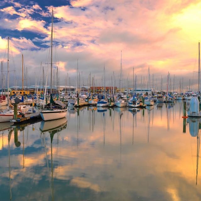 """Reflections - Nelson, New Zealand"" stock image"