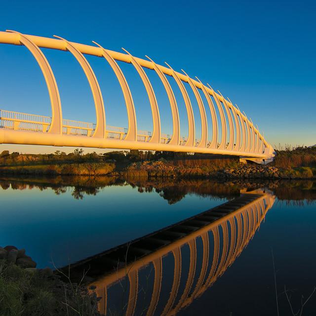 """You & Me - Te Rewa Rewa Bridge, New Plymouth, New Zealand"" stock image"