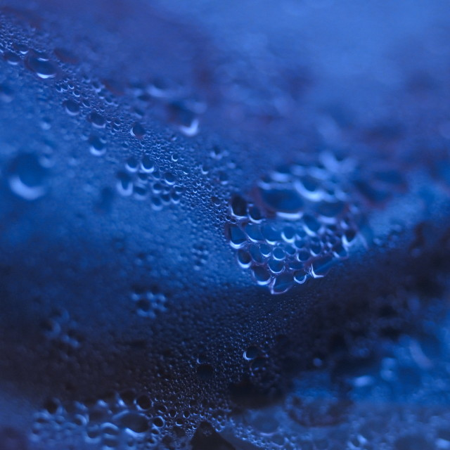 """Water Droplets Abstract background"" stock image"