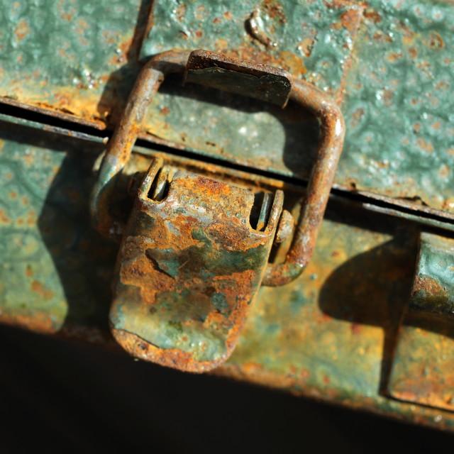 """Rusting Tool Box"" stock image"
