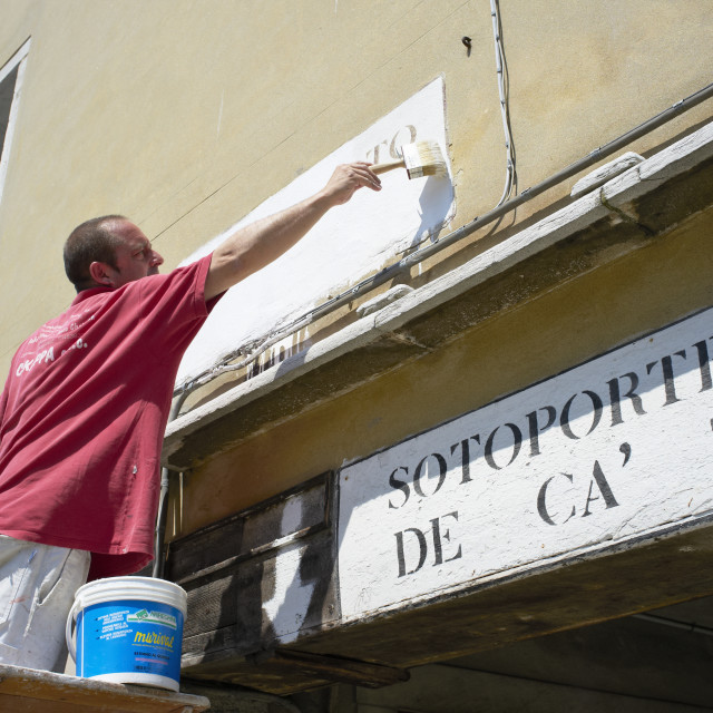 """Sign Painter"" stock image"