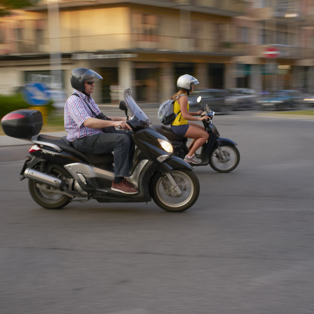 """""""Scooters"""" stock image"""