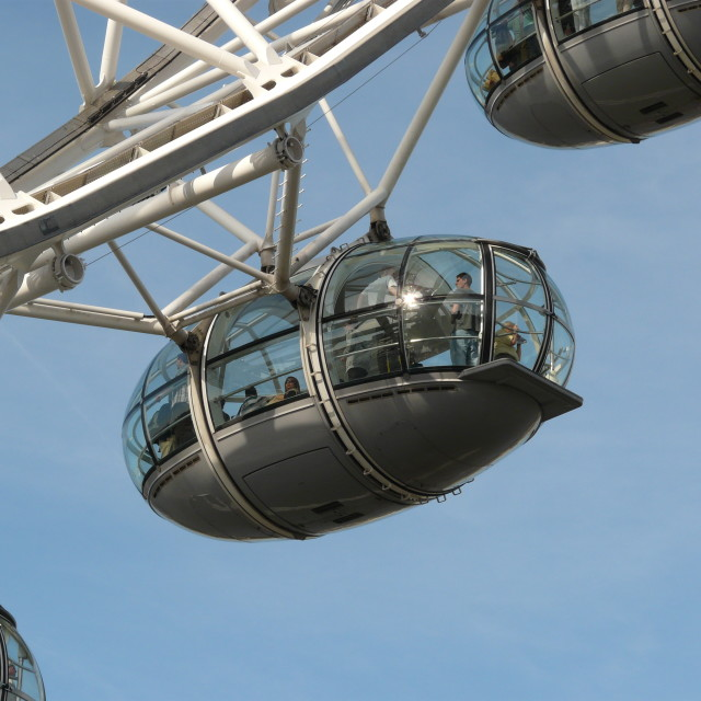 """A pod on the London Eye"" stock image"