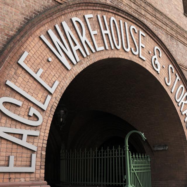"""Eagle Warehouse & Storage Company"" stock image"