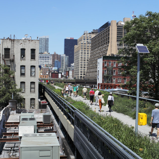 """Manhattan High Line"" stock image"