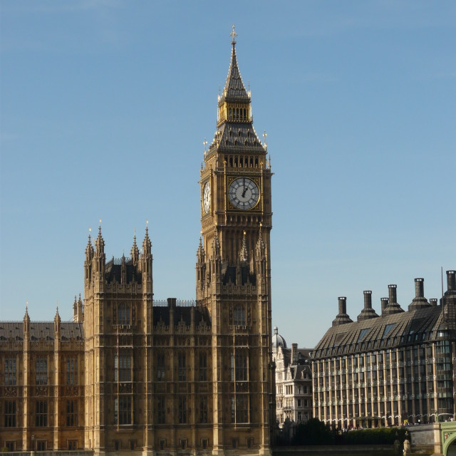 """The Elizabeth tower (Big Ben)"" stock image"