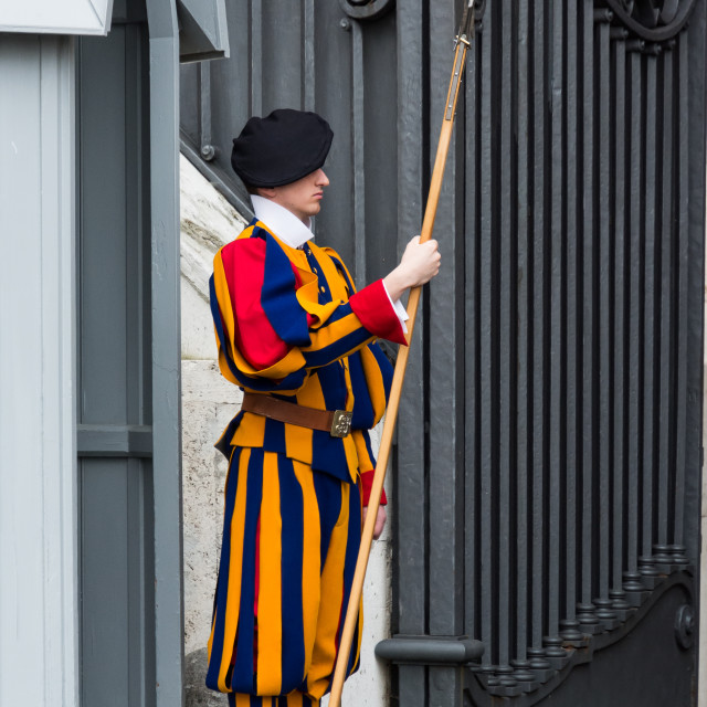 """Swiss Guard at Vatican City"" stock image"