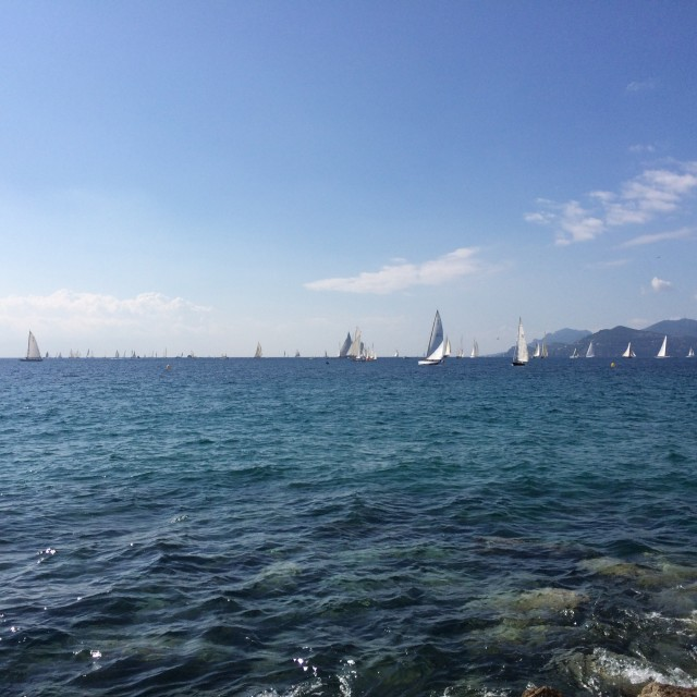 """Yachts at Cannes"" stock image"