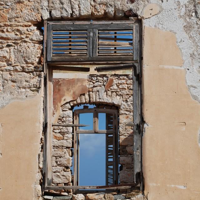 """Window on Halki"" stock image"