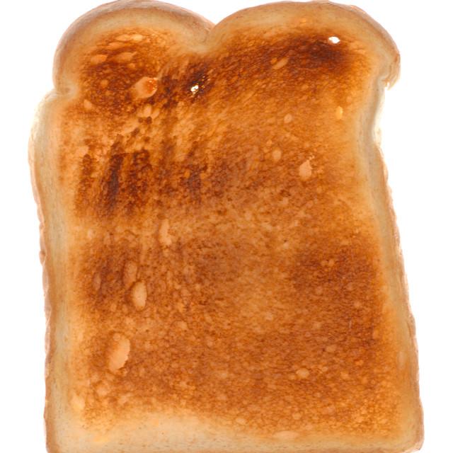 """Single Slice of Toast"" stock image"