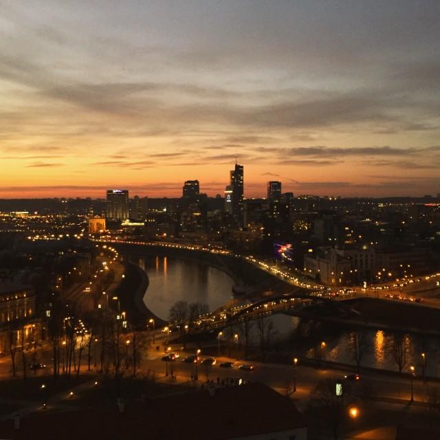 """""""Vilnius Skyline"""" stock image"""