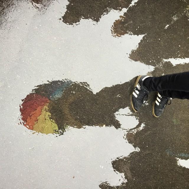 """Rainbow Boots"" stock image"