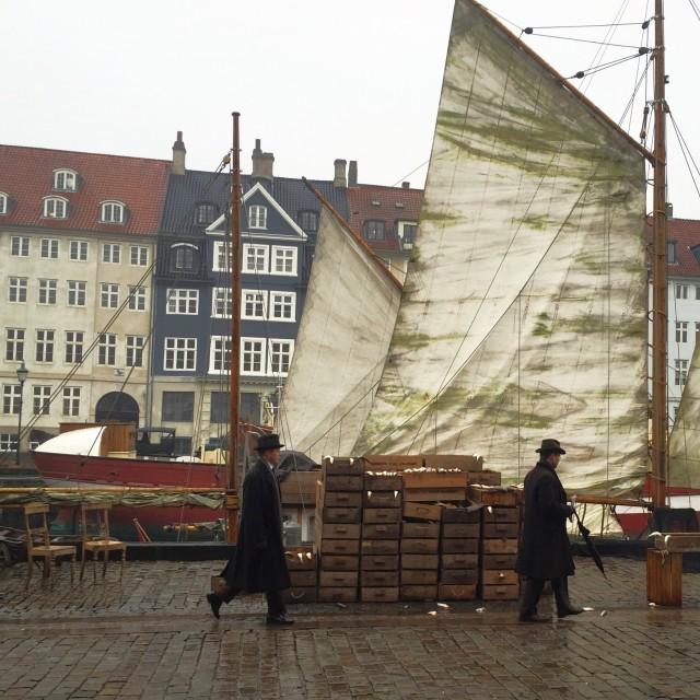 """Historic Nyhavn"" stock image"
