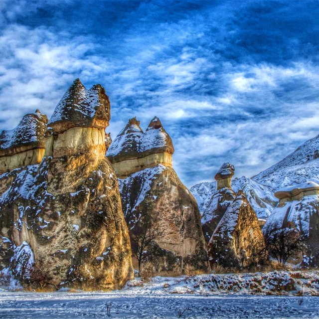 """Snow Covered Cappadocia"" stock image"