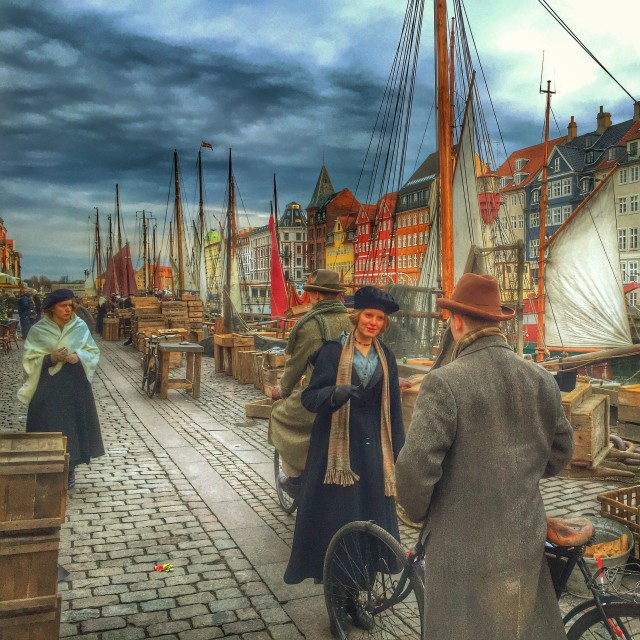 """A Historic Nyhavn at Sunset"" stock image"