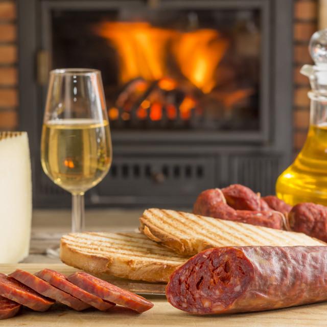 """""""Iberian tapa for brunch"""" stock image"""