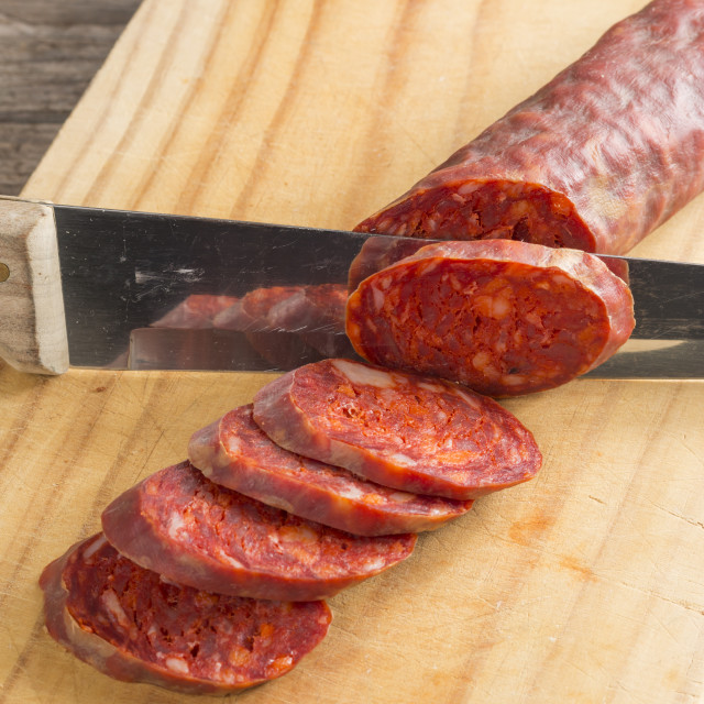 """Spanish chorizo"" stock image"